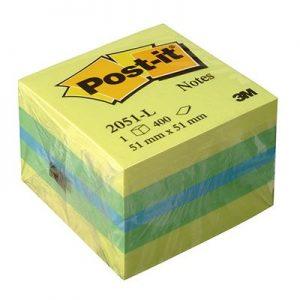 Post-it Αυτοκόλλητα Χαρτάκια Green/ Yellow 51X51mm No.14004