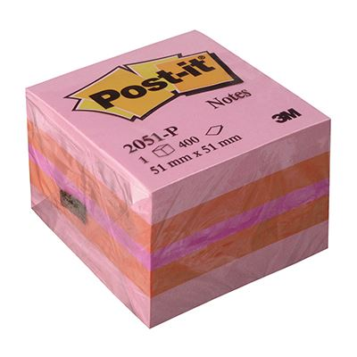 Post-it Αυτοκόλλητα Χαρτάκια Pink 51X51mm No.14005