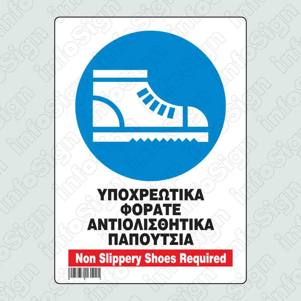 Υποχρεωτικά φοράτε αντιολισθητικά παπούτσια / Non slippery shoes required