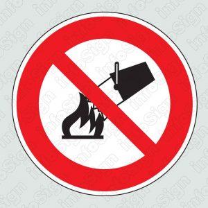 Απαγορεύεται η κατάσβεση με νερό \ Do not use water on fires