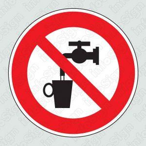 Μη πόσιμο νερό \ Do not drink the water