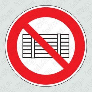 Απαγορεύεται η τοποθέτηση φορτίων \ No loading allowed