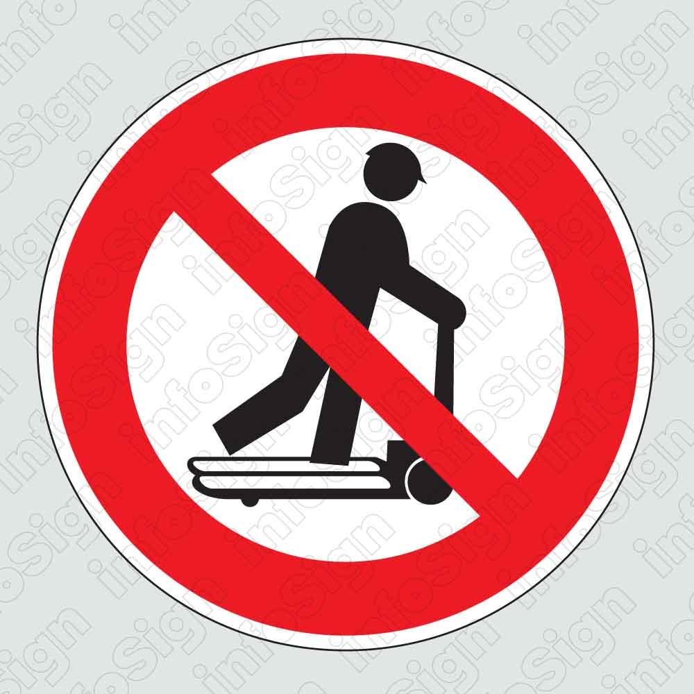 Απαγορεύεται η μεταφορά ατόμων με παλετοφόρο / Forklift riding not allowed
