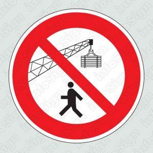 Απαγορεύεται η διέλευση κάτω απο ανυψωμένα φορτία / Keep from under crane loads