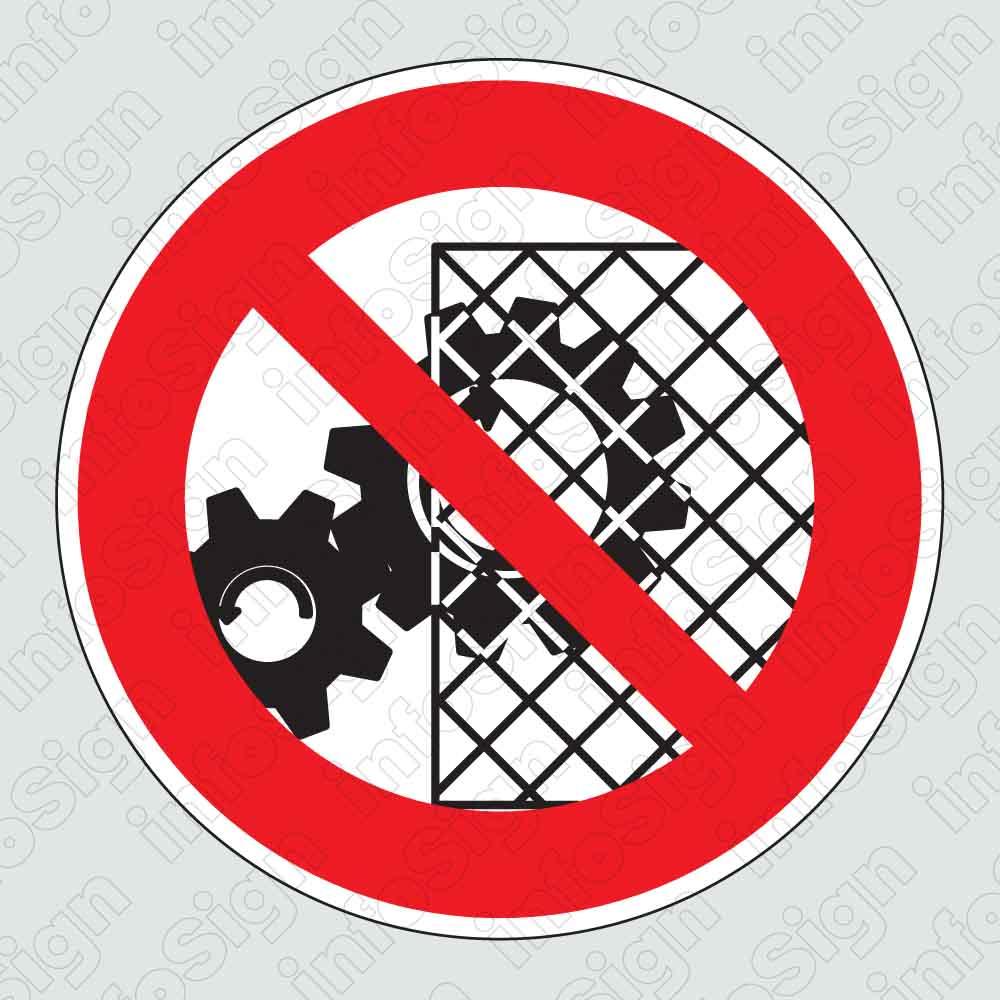 Απαγορεύεται η αφαίρεση προστατευτικών απο τα μηχανήματα / Do not alter or remove safety barriers