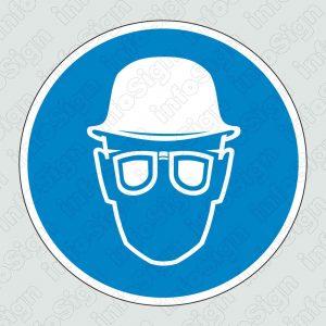 Υποχρεωτικά φοράτε κράνος και γυαλιά προστασίας / Hard hats and safety glasses required