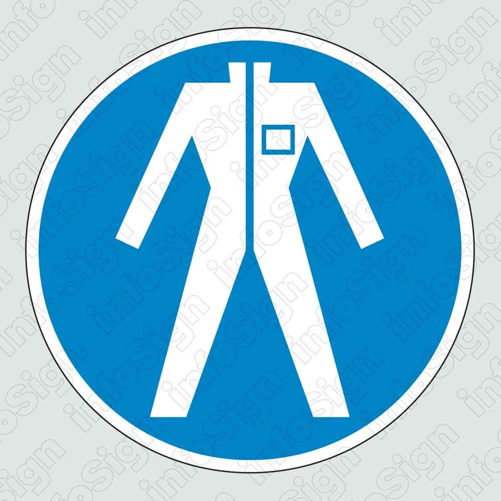 Υποχρεωτικά φοράτε φόρμα εργασίας / Wear protective work clothing