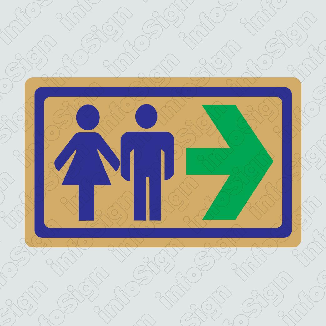 WC Αντρών-Γυναικών Χρυσό (Βέλος Δεξιά)