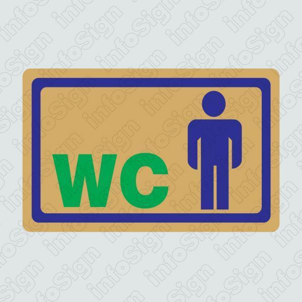 WC Αντρών (Χρυσό) , WC Man (Gold)