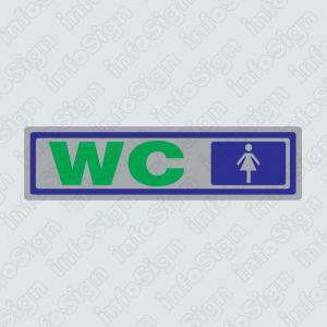 Τουαλέτες Γυναικών (Ασημένιο) / Woman Restroom (Silver)