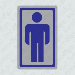WC Ανδρών (Ασημένιο Εικονόγραμμα)