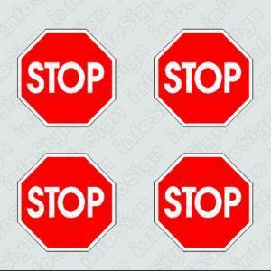Αυτοκόλλητο Stop (4 τεμάχια)