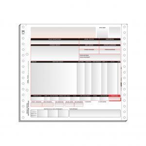 Τριπλότυπο Μηχανογραφικό Έντυπο 21,5 x 24 cm (Unisoft)