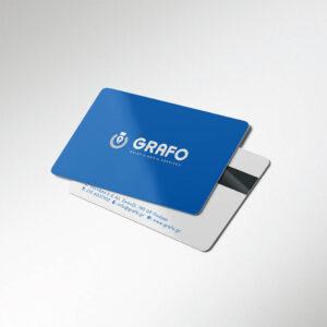 Εκτύπωση σε πλαστικές επαγγελματικές κάρτεςPVC (τύπου πιστωτικής) . Πολλές επιλογές και επιπλέον εφαρμογες peronalizing & προγραμματισμού