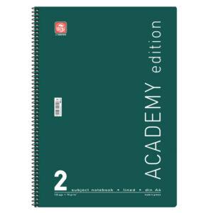 Τετράδια Χρωματιστά Academy Α4 Σπιράλ 2Θ.