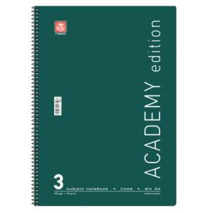 Τετράδια Χρωματιστά Academy Α4 Σπιράλ 3Θ.