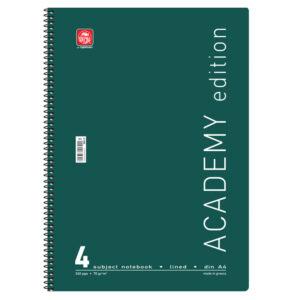 Τετράδια Χρωματιστά Academy Α4 Σπιράλ 4Θ.